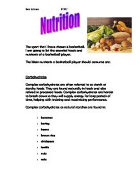 Foods and Nutrition; Nutrition - 123helpmecom